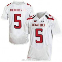 Womens Patrick Mahomes Texas Tech Red Raiders #5 Authentic White College Football C76 Jersey