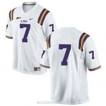 Womens Patrick Peterson Lsu Tigers #7 Authentic White College Football C76 Jersey No Name