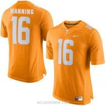 Womens Peyton Manning Tennessee Volunteers #16 Authentic Orange College Football C76 Jersey