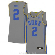 Womens Quinn Cook Duke Blue Devils #2 Authentic Grey College Basketball C76 Jersey