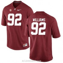 Womens Quinnen Williams Alabama Crimson Tide #92 Limited Red College Football C76 Jersey