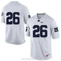 Womens Saquon Barkley Penn State Nittany Lions #26 Authentic White College Football C76 Jersey No Name