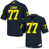 Womens Taylor Lewan Michigan Wolverines #77 Game Navy Blue College Football C76 Jersey