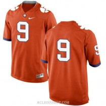 Womens Travis Etienne Clemson Tigers #9 New Style Authentic Orange College Football C76 Jersey No Name