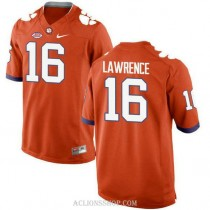 Womens Trevor Lawrence Clemson Tigers #16 New Style Authentic Orange College Football C76 Jersey