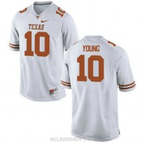 Womens Vince Young Texas Longhorns #10 Authentic White College Football C76 Jersey