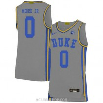Womens Wendell Moore Jr Duke Blue Devils 0 Authentic Grey College Basketball C76 Jersey