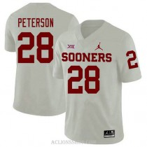 Youth Adrian Peterson Oklahoma Sooners #28 Jordan Brand Authentic White College Football C76 Jersey
