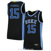 Youth Alex Oconnell Duke Blue Devils #15 Authentic Black College Basketball C76 Jersey