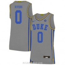 Youth Austin Rivers Duke Blue Devils 0 Authentic Grey College Basketball C76 Jersey