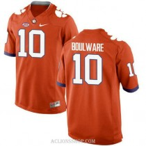 Youth Ben Boulware Clemson Tigers #10 New Style Authentic Orange College Football C76 Jersey