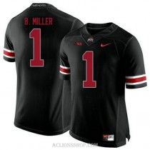 Youth Braxton Miller Ohio State Buckeyes #1 Authentic Black College Football C76 Jersey