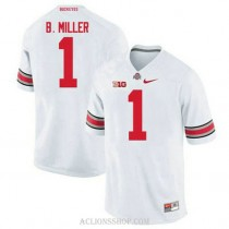 Youth Braxton Miller Ohio State Buckeyes #1 Game White College Football C76 Jersey