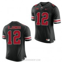 Youth Cardale Jones Ohio State Buckeyes #12 Authentic Black College Football C76 Jersey