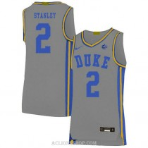 Youth Cassius Stanley Duke Blue Devils #2 Authentic Grey College Basketball C76 Jersey