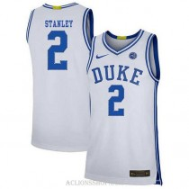 Youth Cassius Stanley Duke Blue Devils #2 Authentic White College Basketball C76 Jersey