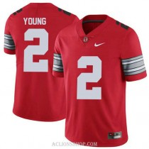 Youth Chase Young Ohio State Buckeyes #2 Champions Authentic Red College Football C76 Jersey