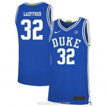 Youth Christian Laettner Duke Blue Devils #32 Authentic Blue College Basketball C76 Jersey