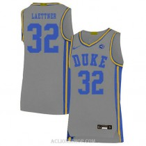Youth Christian Laettner Duke Blue Devils #32 Limited Grey College Basketball C76 Jersey