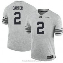 Youth Cris Carter Ohio State Buckeyes #2 Authentic Grey College Football C76 Jersey