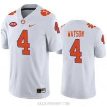 Youth Deshaun Watson Clemson Tigers #4 Authentic White College Football C76 Jersey