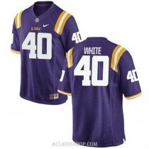 Youth Devin White Lsu Tigers #40 Authentic Purple College Football C76 Jersey