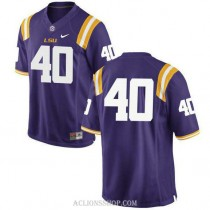 Youth Devin White Lsu Tigers #40 Authentic Purple College Football C76 Jersey No Name