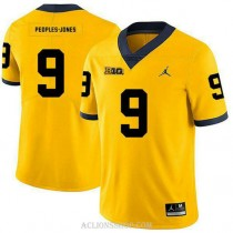 Youth Donovan Peoples Jones Michigan Wolverines #9 Authentic Yellow College Football C76 Jersey