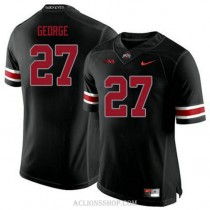 Youth Eddie George Ohio State Buckeyes #27 Authentic Black College Football C76 Jersey