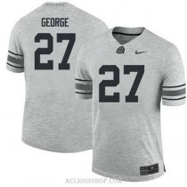 Youth Eddie George Ohio State Buckeyes #27 Authentic Grey College Football C76 Jersey
