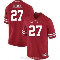 Youth Eddie George Ohio State Buckeyes #27 Authentic Red College Football C76 Jersey