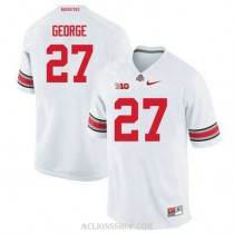 Youth Eddie George Ohio State Buckeyes #27 Authentic White College Football C76 Jersey