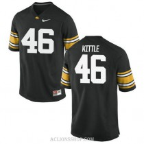 Youth George Kittle Iowa Hawkeyes #46 Authentic Black College Football C76 Jersey