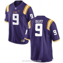 Youth Grant Delpit Lsu Tigers #9 Game Purple College Football C76 Jersey