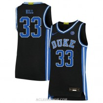 Youth Grant Hill Duke Blue Devils #33 Authentic Black College Basketball C76 Jersey
