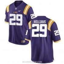 Youth Greedy Williams Lsu Tigers #29 Limited Purple College Football C76 Jersey