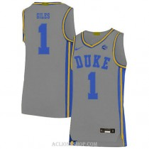 Youth Harry Giles Iii Duke Blue Devils #1 Authentic Grey College Basketball C76 Jersey