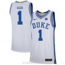 Youth Harry Giles Iii Duke Blue Devils #1 Authentic White College Basketball C76 Jersey