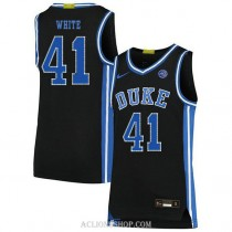 Youth Jack White Duke Blue Devils #41 Authentic Black College Basketball C76 Jersey