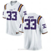 Youth Jamal Adams Lsu Tigers #33 Authentic White College Football C76 Jersey