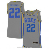 Youth Jay Williams Duke Blue Devils #22 Authentic Grey College Basketball C76 Jersey