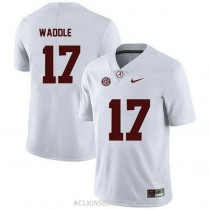Youth Jaylen Waddle Alabama Crimson Tide #17 Limited White College Football C76 Jersey