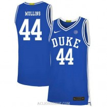 Youth Jeff Mullins Duke Blue Devils #44 Authentic Blue College Basketball C76 Jersey