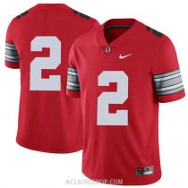 Youth Jk Dobbins Ohio State Buckeyes #2 Champions Authentic Red College Football C76 Jersey No Name