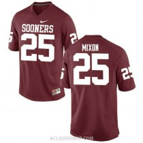 Youth Joe Mixon Oklahoma Sooners #25 Authentic Red College Football C76 Jersey