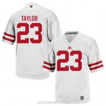 Youth Jonathan Taylor Wisconsin Badgers #23 Authentic White College Football C76 Jersey