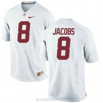 Youth Josh Jacobs Alabama Crimson Tide #8 Authentic White College Football C76 Jersey