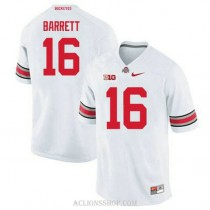 Youth Jt Barrett Ohio State Buckeyes #16 Limited White College Football C76 Jersey