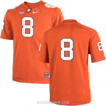 Youth Justyn Ross Clemson Tigers #8 Authentic Orange College Football C76 Jersey No Name