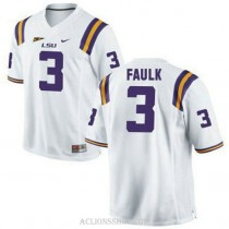 Youth Kevin Faulk Lsu Tigers #3 Game White College Football C76 Jersey
